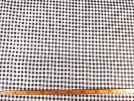 Canvas stof met print boerenbont ruit  Rood