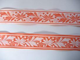 Sierband Oranje met blaadjes  33mm