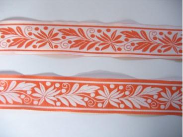 8d Sierband Oranje met blaadjes 354