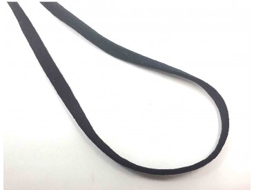 Zwart stevig en zacht elastisch koord plat  5mm breed