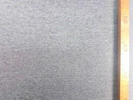 Boordstof  Katoen  mini mini streepje zwart/Wit