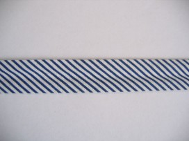 Biaisband gestreept Donkerblauw
