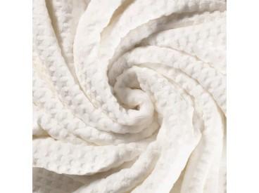 Waffle fleece  Offwhite 100% Polyester 1.50 mtr. br. 280 gram p/m2