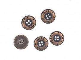 Jeansknoop Oud brons 15mm jk343