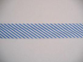 Biaisband gestreept Blauw 012