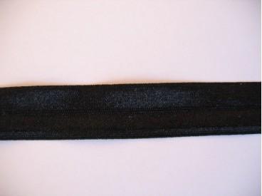9c Elastisch biaisband Zwart 452