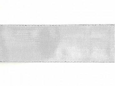 Sierlint zilver kleur van 38 mm breed  De prijs is per meter.  Minimale afname is 1 meter
