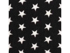 Honeycomb Fleece Zwart met sterren