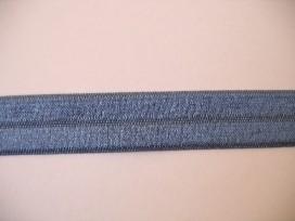 Elastisch biaisband Jeansblauw 457