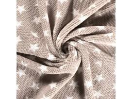 Honingraat fleece Zand met witte sterren