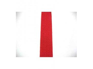 Rode keperband  100% katoen  2cm. breed