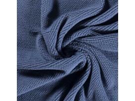Honingraat fleece Jeansblauw