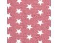 Honingraat fleece Oudroze met witte sterren  14052-012