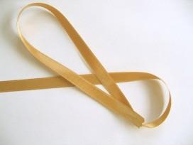 Goud kleurig satijnlint per rol van 25 meter. Een hele mooie kwaliteit dubbelzijdig satijnlint.  10 mm breed  100 % polyester