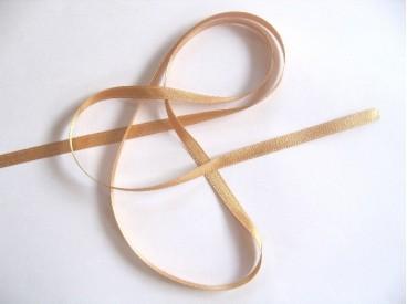 Satijnlint per rol van 25mtr.  Goud  6 mm