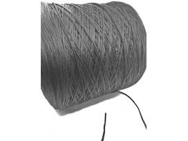 Zacht elastisch koord Zwart 2-3 mm doorsnee