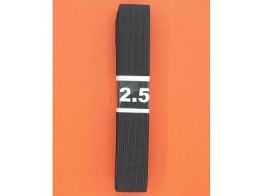 Bundel stevig elastiek Zwart  2 cm