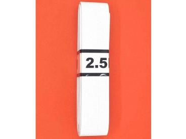 Bundel stevig elastiek  Wit  2.5 cm