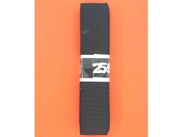 Bundel stevig elastiek Zwart  2.5 cm