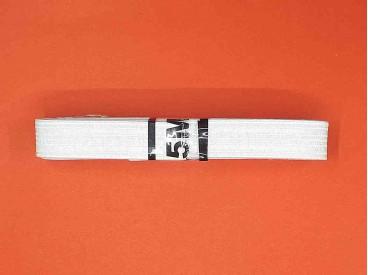 Een bundel pyjama elastiek.  Wit met een breedte van 1.5 cm.  2.5 meter lang
