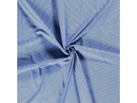 Dapper katoen Romantic  Oudblauw/lichtblauw mini lengtestreep