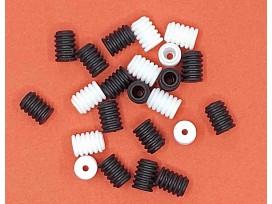 Elastiek versteller wit  Afmeting:  9 x 6 mm  Wordt veel gebruikt voor mondkapjes.