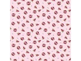Dapper katoen Floral Flair  Roze met boeketjes