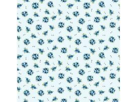Dapper katoen Floral Flair  Lichtblauw met boeketjes