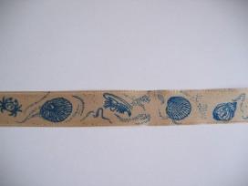 7z Sierlint Zand met blauwe schelpen 746