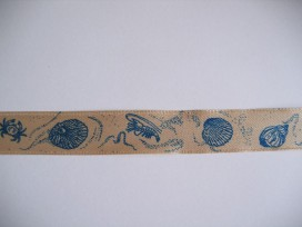 Sierlint Zand met blauwe schelpen 746