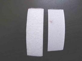 Wit opnaaibaar klitteband 50 mm breed