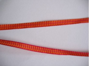 Sierband oranje/rood 5 mm.     O-806