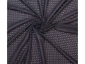 Woven cotton broderie  Black