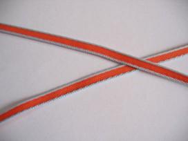 9q O sierband lichtblauw/oranje 5mm. 809