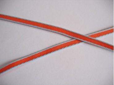 Sierband lichtblauw/oranje 5mm.   O-809