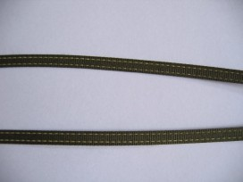 9o O sierband legergroen 5mm. 811