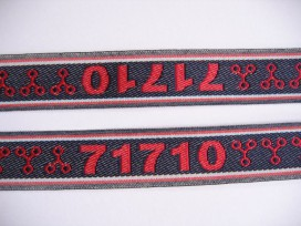 9m O sierband blauw/rood 71710 813