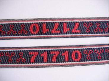 Sierband blauw/rood 71710    0-813
