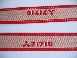 Sierband creme/rood 71710   O-816