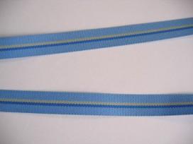 Sierband lichtbl./geel/jeans gestreept   O-826
