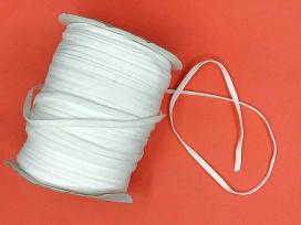 Wit stevig en zacht elastisch koord plat  3mm breed