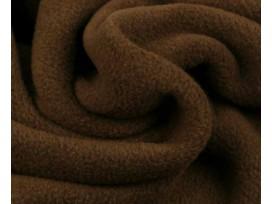 Extra dikke bruine superzachte polar fleece.  100% polyester/anti pilling  1,50 mtr breed  270 gr/m2