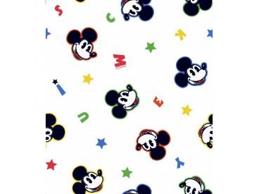 Disney stof  Mickey mouse met ster en letters