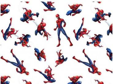 Een mooie poplin/katoen met een spiderman print van Marvel. 100% katoen (American Carded Cotton Poplin) 1.50 mtr. br 120 Gr/M2