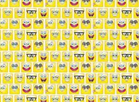 Spongebob  Emojis Een poplin/katoen met een  leuke Spongebob emojis print  100% katoen 1.50 mtr. br 120 Gr/M2