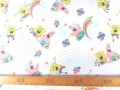 Een poplin/katoen met een  leuke Spongebob print. 100% katoen 1.50 mtr. br 120 Gr/M2