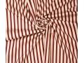 Woven co/ea stripes Rood en creme