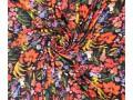 Woven pl crepe flower print Plissé