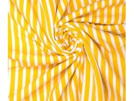 Woven vi crepe stripes Geel en witte strepen