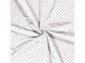 Maritiem  Witte poplin met donkerblauwe ankertjes  15529-050N